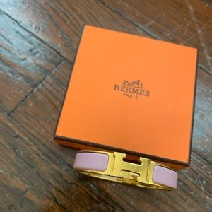 Hermès H click pink bracelet